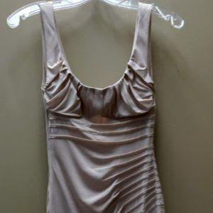 Blumarine Nude Silk Chiffon Bustier Dress